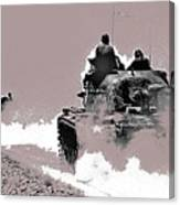 Army Reservists Summer Camp Tanks Death Valley California 1968-2016 Canvas Print