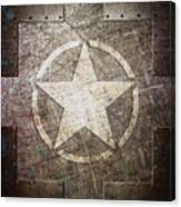 Army Star On Steel Canvas Print