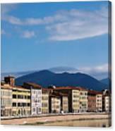 Arno River Pisa Italy Canvas Print