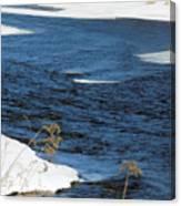 Aroostook River Below The Dam Canvas Print