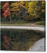 Around The Bend- Hiking Walden Pond In Autumn Canvas Print