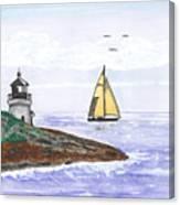 Around The Bend Sailboat Canvas Print
