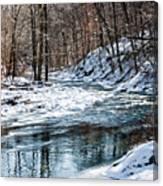 Around The Snow Bend Canvas Print