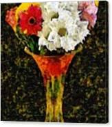 Arrangement In Confetti And Black Canvas Print
