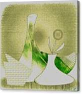 Arrangement In Green And Yellow Canvas Print