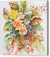 Arrangement In Yellow Canvas Print