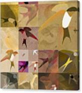 Arraygraphy - Birdies Sepia, Part 1 Canvas Print