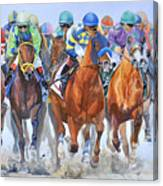 Arrivee Groupee Canvas Print