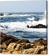 Arriving Tide At Pebble Beach Canvas Print