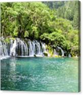 Arrow Bamboo Waterfall Canvas Print