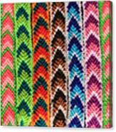 Arrow Pattern Woven Bracelets Canvas Print