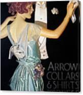 Arrow Shirt Collar Ad, 1923 Canvas Print