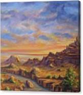 Arroyo Sunset Canvas Print