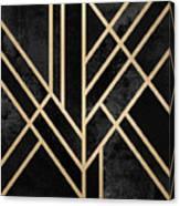 Art Deco Black Canvas Print