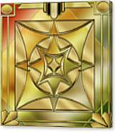 Art Deco Brass 2 Canvas Print