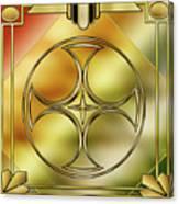 Art Deco Brass 3 Canvas Print