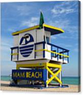 Art Deco Lifeguard Stand Canvas Print