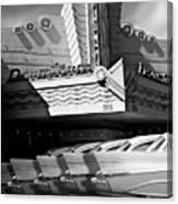 Art Deco Movie Theatre And Chevrolet Belair Canvas Print
