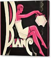 Art Deco Paris Lingerie Ad Canvas Print