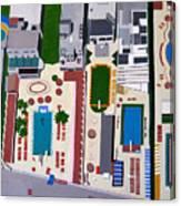 Art Deco Pools Canvas Print