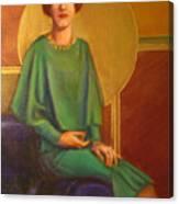 Art Deco Redhead Canvas Print