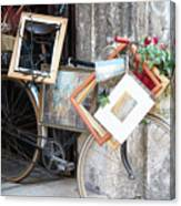Art Gallery Bike Canvas Print