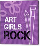 Art Girls Rock Canvas Print