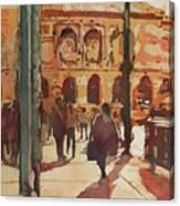 Art Institute Reflected Canvas Print