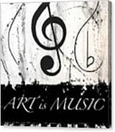 Art Is Music-music In Motion Canvas Print