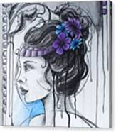 Art Nouveau Girl 1 Canvas Print