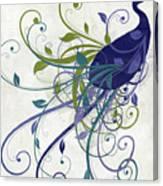 Art Nouveau Peacock I Canvas Print