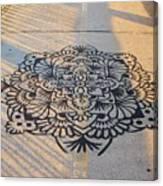 Art On Manhattan Bridge Canvas Print
