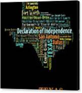 Art Print, Pop Art Texas Map, Modern Style Country Map, Country Maps For Home Decor, Pop Art Map Pri Canvas Print