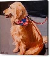 Art Show Dog 2 Canvas Print
