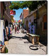 Art Street In Varazdin Canvas Print