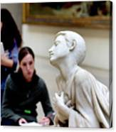 Art Students In The Louvre Canvas Print