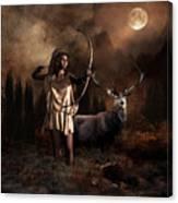 Artemis Goddess Of The Hunt Canvas Print