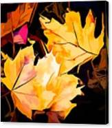 Artful Maple Leaves Canvas Print
