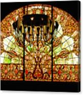 Artful Stained Glass Window Union Station Hotel Nashville Canvas Print