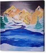 Artic Lake Canvas Print