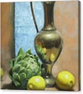 Artichoke And Lemons Canvas Print
