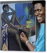 Artist In Bermuda Canvas Print