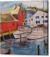 Artist In New England Dock Canvas Print