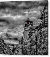 Artistic Bass Harbor Lighthouse In Acadia Canvas Print