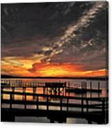 Artistic Black Sunset Canvas Print