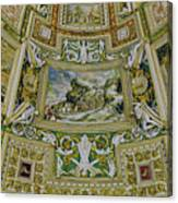 Artistic Ceilings Within The Vatican Museums In The Vatican City Canvas Print