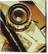 Artistic Double Exposure Of A Vintage Photo Tour Canvas Print