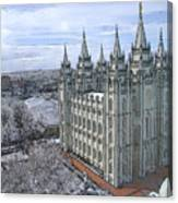 Artistic Rendering Of The Salt Lake City Lds Temple Canvas Print