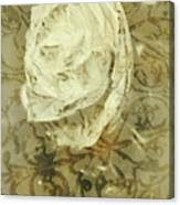 Artistic Vintage Floral Art With Double Overlay Canvas Print
