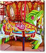 Artistically Textured Carousel Canvas Print